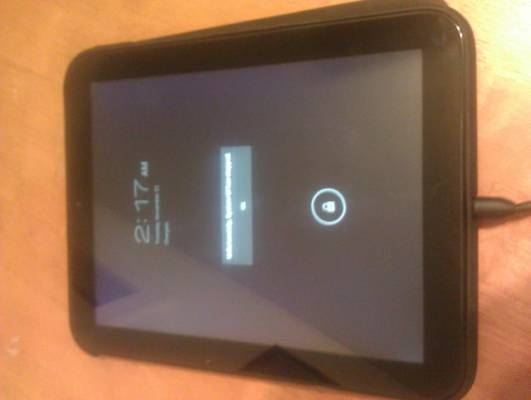 HP TouchPad with Ice Cream Sandwich