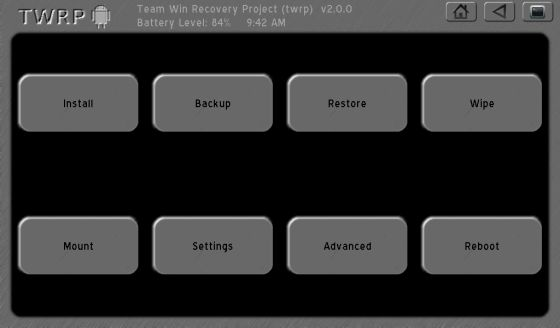 How to install TWRP 2 0 touch-based recovery on the Kindle