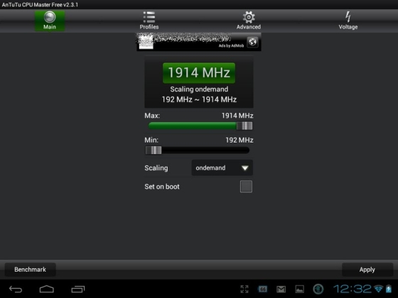 HP TouchPad overclocked with Bricked Kernel