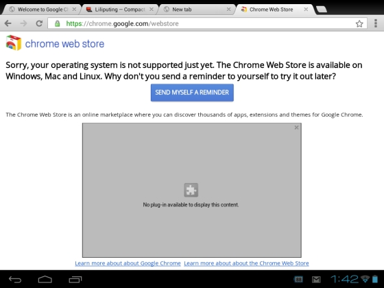 Chrome web browser comes to Android, app store, extensions
