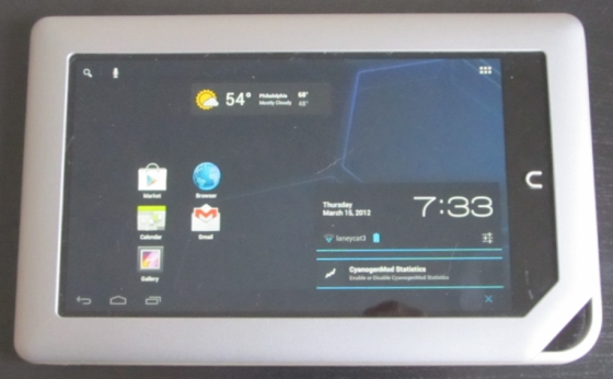 NOOK Tablet with CyanogenMod 9