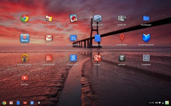 Google Chrome OS Aura desktop