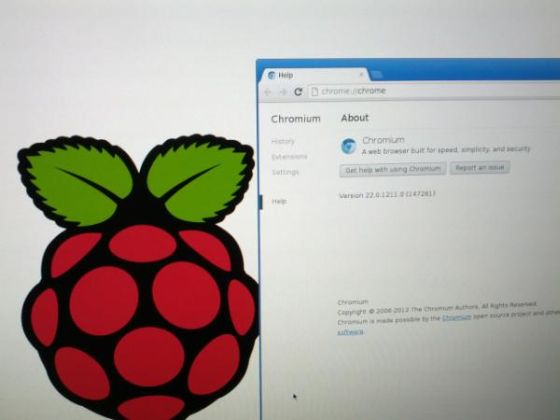 Chromium browser on the Raspberry Pi