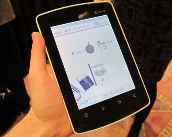 Qualcomm Mirasol display on Kyobo eBook reader