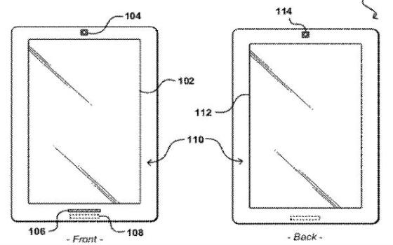 Amazon dual screen patent