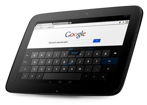 Google Android 4.2 on the Nexus 10