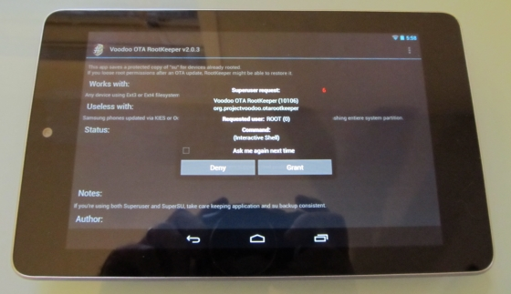 Nexus 7 SuperSU