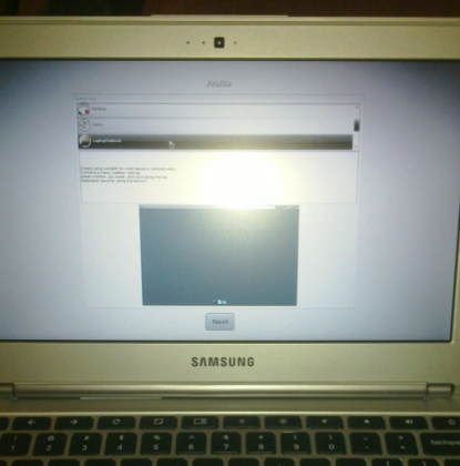 Samsung Chromebook with Bodhi Linux