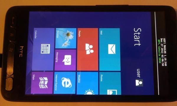 HTC HD2 with Windows RT