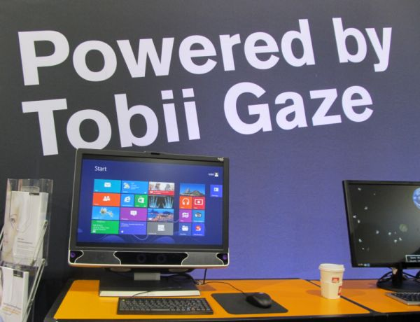 Tobii Technology's eye-tracking system lets you use your
