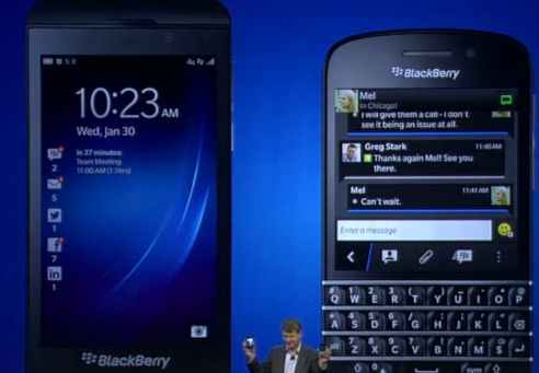 BlackBerry Z10 and BlackBerry Q10