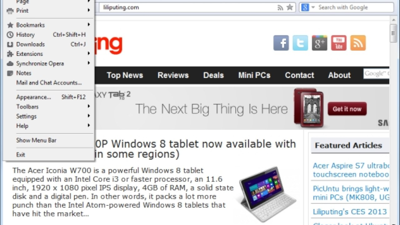 Opera moves to Webkit for PC, mobile web browsers - Liliputing