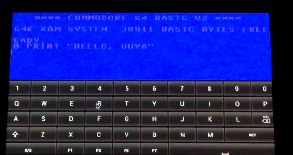 Ouya with Frodo C64 C64 emulator