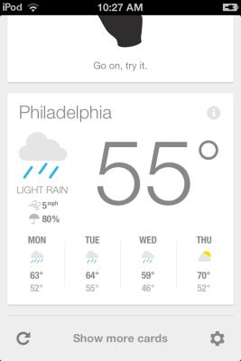 Google Now for iOS