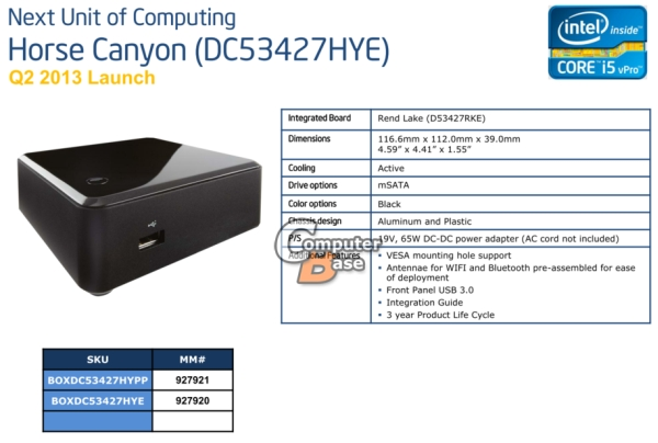 Intel NUC Horse Canyon