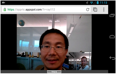 Chrome for Android with WebRTC