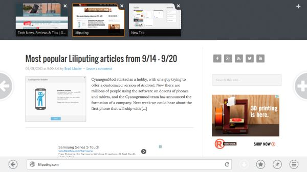 Mozilla launches preview of Firefox for Windows 8 tablets - Liliputing