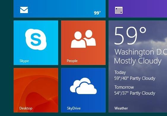 Windows 8.1 Desktop Tile