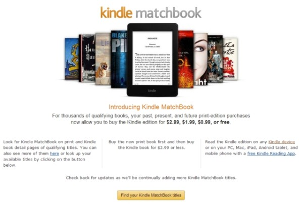 Amazon Kindle MatchBook