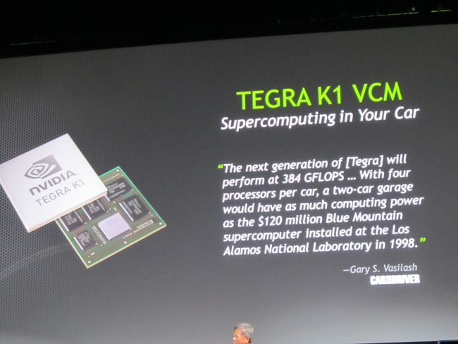 NVIDIA introduces Tegra K1 mobile chips with 192 graphics cores