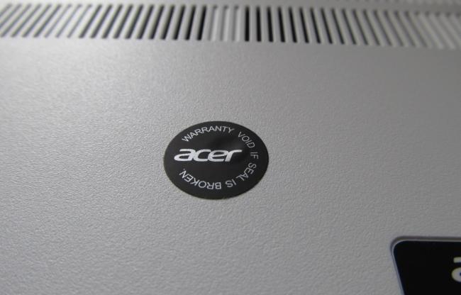 acer c720p warranty void