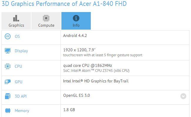 acer a1-840 fhd