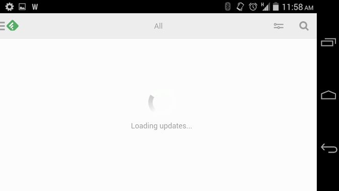 feedly loading