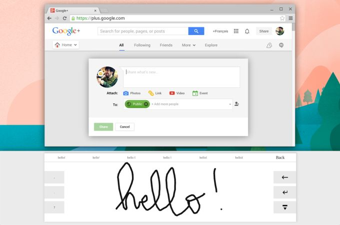 chrome os handwriting