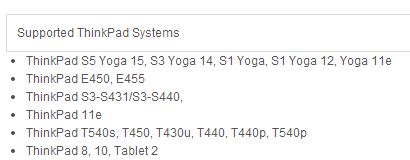 thinkpad yoga names