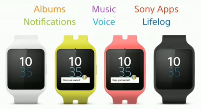 Sony unveils Smartwatch 3 and SmartBand Talk fitness ...