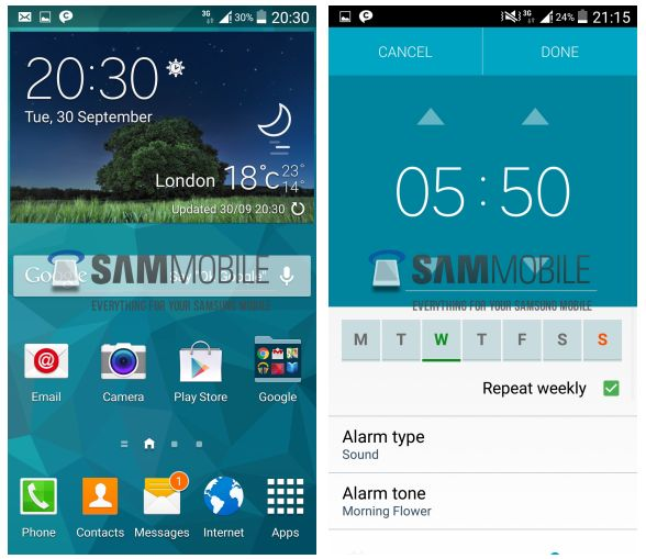 This is what Android L looks like with TouchWiz (on Samsung phones