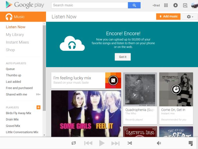 Google Play Music storage locker now holds up to 50,000 songs