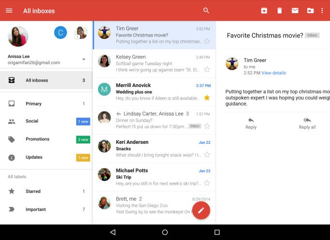 Gmail for Android adds unified inbox (view Outlook, Yahoo, and Gmail