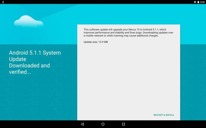Android 5.1.1 update