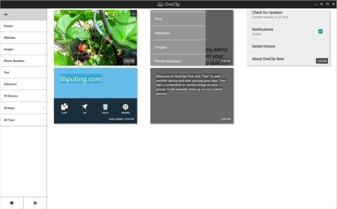 Microsoft OneClip: Cloud clipboard shares content between