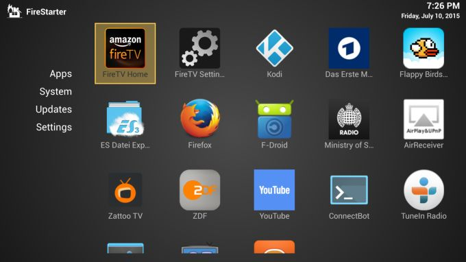 FireStarter is an Amazon Fire TV home screen replacement (for now
