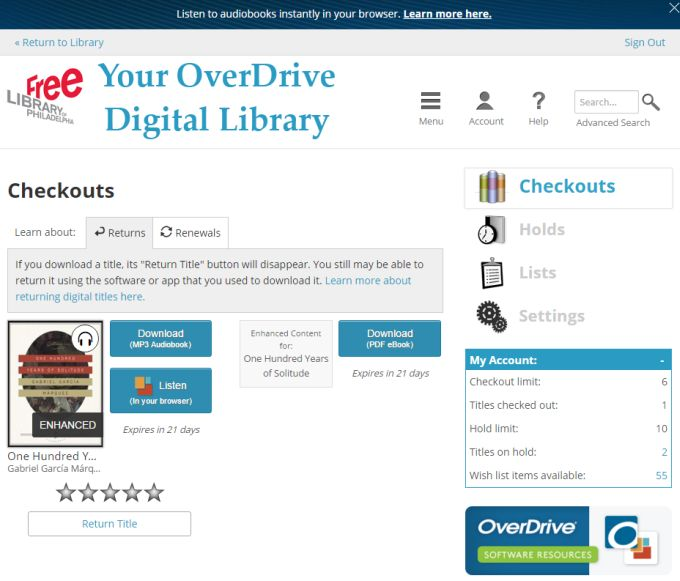 How to listen to OverDrive library audiobooks on nearly any mobile