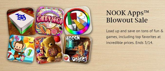 nook apps sale