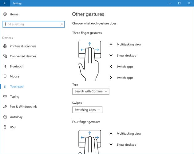 Latest Windows 10 preview build gains custom touchpad