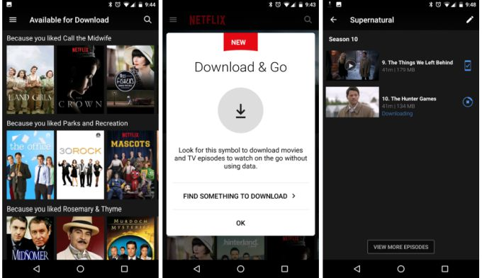 Now you can download (some) Netflix videos for offline