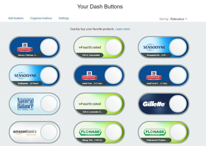 Amazon Dash Buttons Go Virtual Order One Click Refills