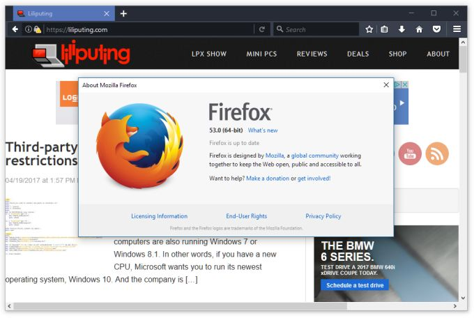 Firefox 53 brings new graphics engine, new themes, new site