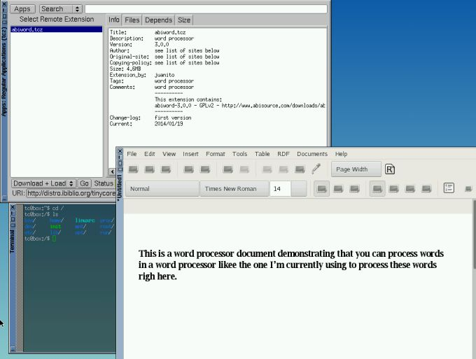 Tiny Core 8 0: A complete desktop Linux distro in 16MB - Liliputing