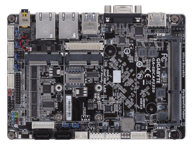 Gigabyte launches single-board PC with Apollo Lake CPU, upgradeable memory and storage