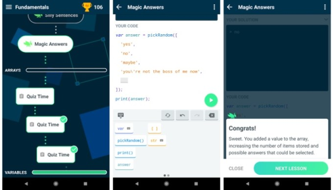 Google's Grasshopper mobile app teaches you to code JavaScript in