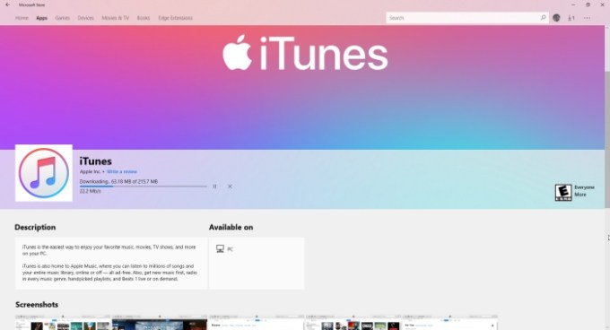Apple brings iTunes to the Microsoft Store - Liliputing