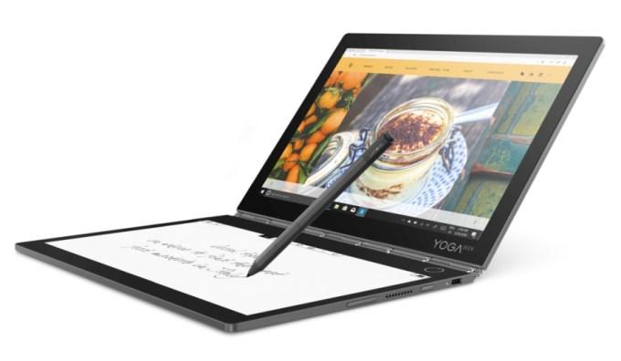 587e7d5f37e Lenovo unveils Yoga Book C930 with color   E Ink displays - Liliputing