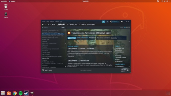 Steam for Linux now supports more than 2,600 Windows games