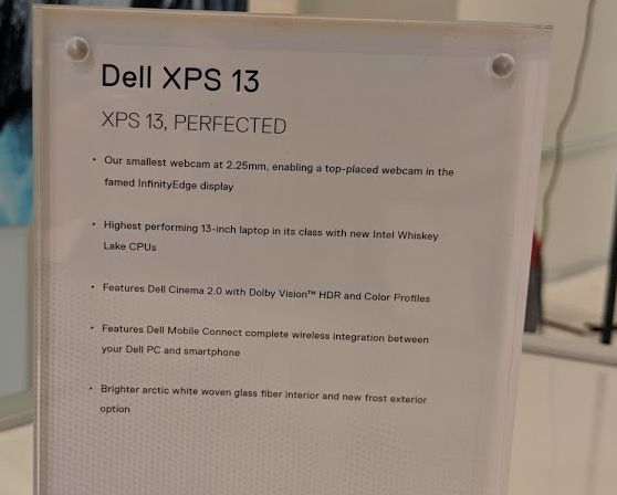 Dell XPS 13 laptop gets a 2019 refresh: Whiskey Lake chips