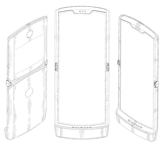 This could be what the new Moto Razr folding phone looks like
